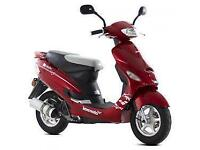 Lexmoto Scout 50cc, 2015, New & Unused, Red or Black or Blue/Grey