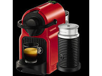 Krups Nespresso Inissia with Aeroccino, in Ruby Red *** Brand New ***
