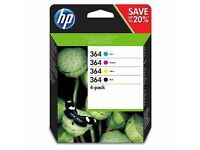 hp 364 cartridges, ink, cheap - cyan, magenta, yellow and black ink