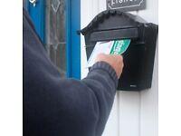 Local leaflet distributor needed (over 1,000 leaflets a week)