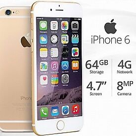iPhone 6 Gold As new. Unlocked