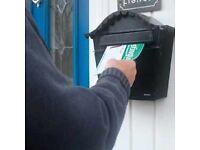 Leaflet distributor needed