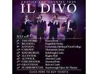 2 tickets for il Divo tonight Edinburgh Castle