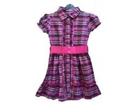 Check Dress In Purple With Belt