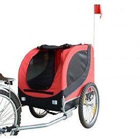 Brand new folding bike trailer for a dog