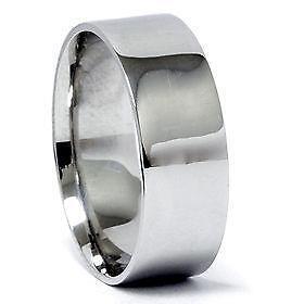Menu0027s Platinum Wedding Band 8mm