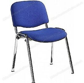 Chrome Frame Conference Chairs x4 RRP £99