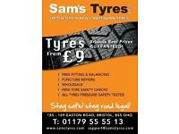Part worn tyres Bristol,New tyres, Sams tyres Bristol, Tyres from only £10
