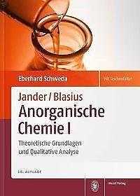 Jander/Blasius, Anorganische Chemie I - Eberhard Schweda - 9783777623641