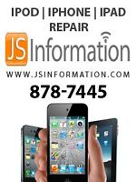 iPOD, iPHONE, iPAD REPAIR & iPHONE UNLOCK -- JS INFORMATION.COM