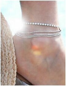 Charm Silver Plated Bead Anklets High Quality Ankle Br