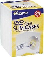 Memorex Slim DVD Video 25-Pack Storage Cases (Clear)
