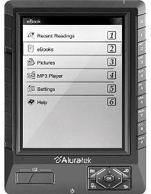 Aluratek Libre 5in eReader - Black