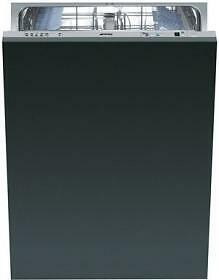 Smeg ST8646U Fully Integrated Panel Ready Dishwasher with 13 Place Setting Capacity, 9 Wash Cycles, Stainless Steel Tub,