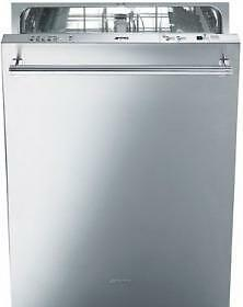 "SMEG ST8646XU  24"" Pre-Finished Dishwasher with Finger Print Proof Stainless Steel, Maxi-height Door and Professional Ha"