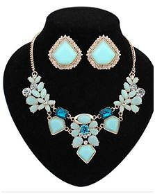 Fashion statement fine jewelry set Colorful flower design