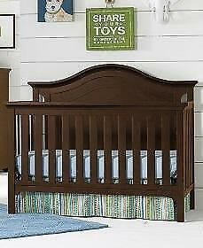TiAmo Catania Full Panel 4-in-1 Convertible Wood Crib - Dark Roast