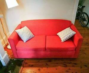 Pink / red sofa - FREE - Must pick it up today Surry Hills Inner Sydney Preview