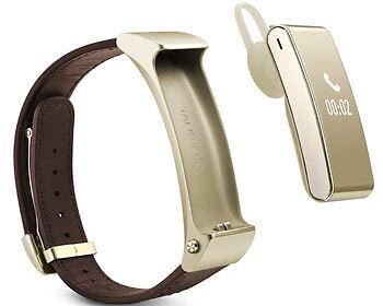 Fitness-Armband und Headset in einem: Das TalkBand B2. (Copyright: Huawei)
