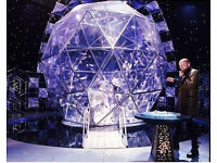 2 tickets for The Crystal Maze (London) at 4pm on Tuesday 21st February