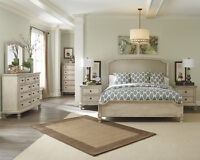 6 Pc Ashley furniture bedroom set millenium level Top quality NE