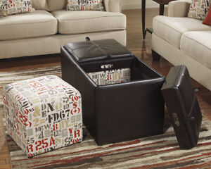 Ottoman with Storage and Extra Cubes
