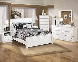 WHITE 6PCS. DOUBLE BEDROOM SET | WHITE GIRLS BEDROOM SET (ASH2206)