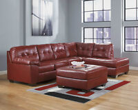 ASHLEY FURNITURE SALE!!!! 2 PIECE BONDED LEATHER SECTIONAL SOFA.