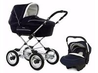 SILVERCROSS Pram Package Includes ISOfix Car Seat AND Assessories Sleepover Blue