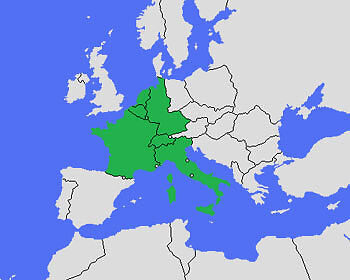 Nur sieben Länder gingen beim ersten ESC an den Start. (Copyright: Wikimedia Commons)