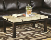 Contemporary Style Faux Marble Occasional Table Only $159