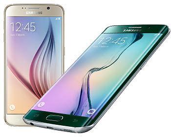 Das Samsung Galaxy S6 und sein randloser Zwilling. (Copyright: Samsung)