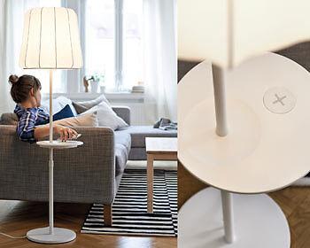 Aufladen durch Auflegen: Qi-Möbel revolutionieren die Ladetechnik. (Copyright: obs/Inter IKEA Systems B.V. 2015)