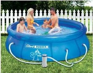 Clarke Rubber inflatable pool with filter Atwell Cockburn Area Preview