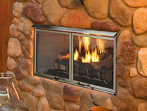 """NEW Majestic outdoor 42"""" gas fireplace"""