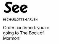 3 Book of Mormon tickets, Saturday 23rd June 19:30 - Prince of Wales Theatre