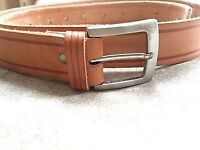 NEW: Beige REAL leather Belt from Portugal Size S-M