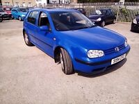 VOLKSWAGEN GOLF 1.6SR PETROL 1998 WITH MOT TILL END OF AUGUST 2017 GOOD CONDITION P/X WELCOME