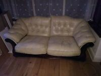 FREE 2 cream leather settees.