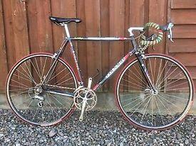 Colnago Crystal steel frame and forks, mavic open pro rims - lovely vintage bike