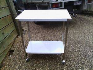 Stainless steel bench 800x500 mobile Beenleigh Logan Area Preview