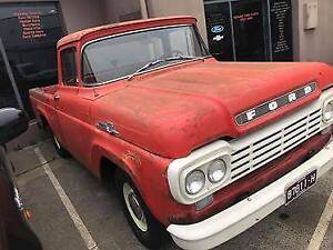 FOR SALE 1959 Ford F100 Short Bed_ LHD