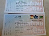 Peppa Pig's surprise Tickets for 12th October in the Lyric, Carmarthen.