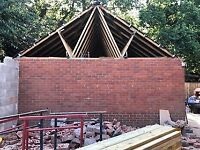 Timber Roof Trusses ideal for a Double Garage 5m . 525 mm X 9