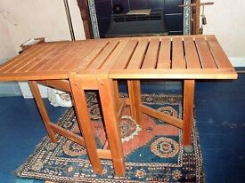 Folding teak table & matching chairs (Price reduced!)