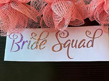 Bride Bride Squad Decal Label for Wedding Party Gift Box Holographic Gold/Silver