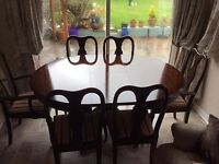 Mahogany (extendable)Table and 6 chairs (Beautiful condition) Peacehaven.