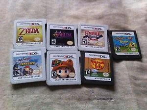 Selling used 3ds and ds games