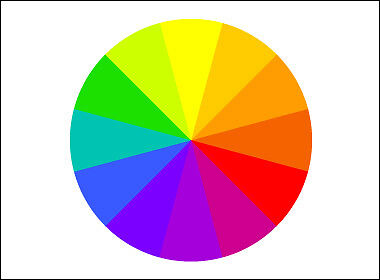 BASIC COLOR WHEEL WITH 12 COLORS