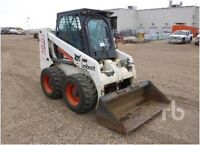 Skid steer, dump trailer and truck for hire